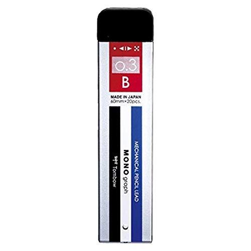 トンボ鉛筆 シャープ芯 モノグラフ MG 0.3 B モノカラー 3個セット