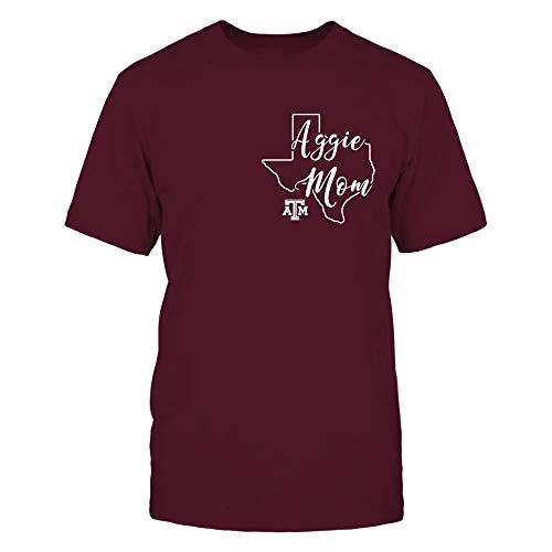 FanPrint Texas A&M Aggies T-Shirt - Mom - Bluebonnet State - Premium Men's Tee/Maroon/XL