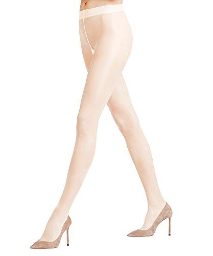 FALKE Damen Strumpfhosen Seidenglatt 15 Denier - Transparente, Leicht Glänzend, 1 Stück, Elfenbein (Champagne 2579), Größe: XXL