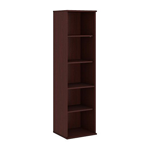 Bush Business Furniture 66H 5 Shelf Narrow Bookcase in Harvest Cherry