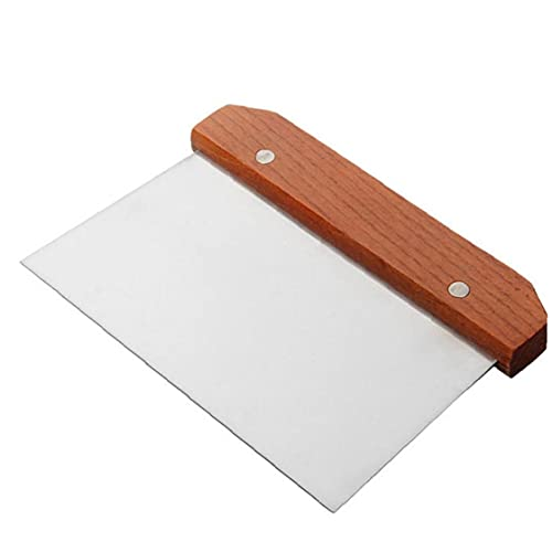 Eaarliyam Pastry Pizza Cutters,Dough Scraper,Stainless Steel,Chopper with Wooden Handle Bench Knife,for Bread,Pizza,Dough,Flat Top Griddle