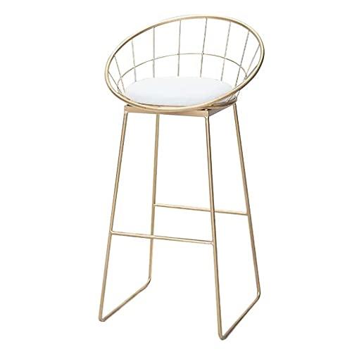Taburetes de bar Reposapiés de silla Taburetes de bar Reposapiés de silla Taburete alto Sillas de comedor tapizadas en blanco como taburete para cocina | Pub | Taburete de desayuno | Patas de metal