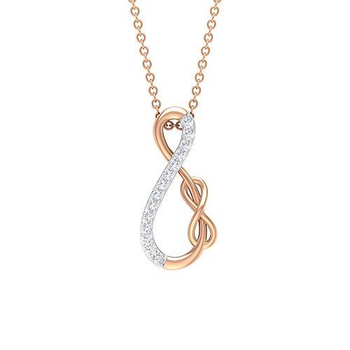 Colgante de diamante infinito, colgantes de dos tonos para mujer, colgante de nudo infinito