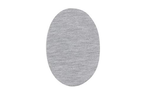 Rodilleras para chándal | Parches termoadhesivos para reparar ropa deportiva. 6 Coderas o rodilleras de 13,9 x 9,3 cms. Color: gris plata