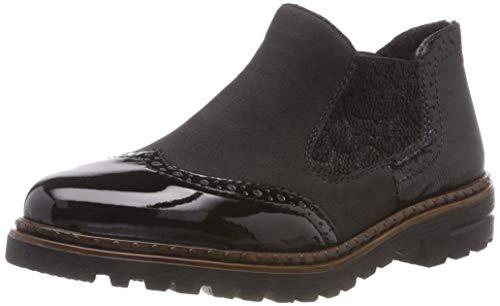 Rieker Damen 54893 Chelsea Boots, Schwarz (Schwarz/Schwarz/Black/Schwarz 01), 40 EU