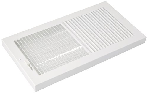 AMERICAN METAL PRODUCTS 367W12X6 12x6 WHT Base Register, 1 Piece