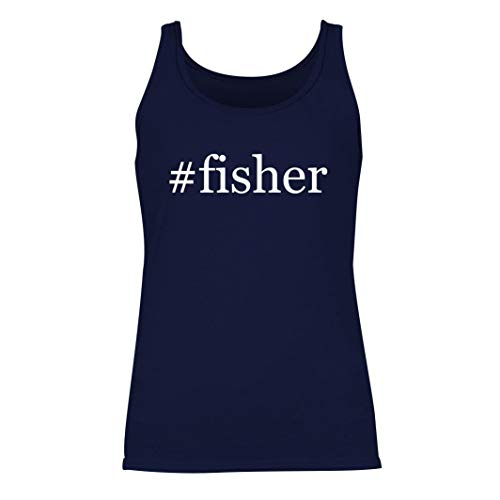 #fisher - Women's Hashtag Summer Tank Top, Navy, Large