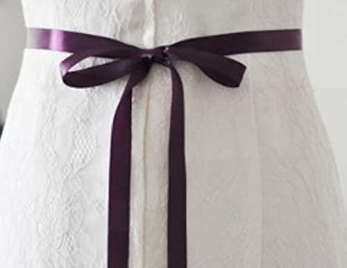 Opal Kristall Hochzeitsgürtel Schärpe Roségold Silber Brautgürtel Weiß Elfenbein Champagner Band Partykleid Schmuck Braut Accessoires-Lila, Silber