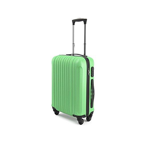 Eglemtek ABS Maleta Equipaje de mano cabina rígida ligera con 4 ruedas, 55cm ,trolley cáscara dura , verde