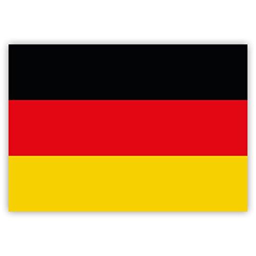 10 x Aufkleber Deutschland-Flagge, 7,4 x 5,2 cm für innen und außen