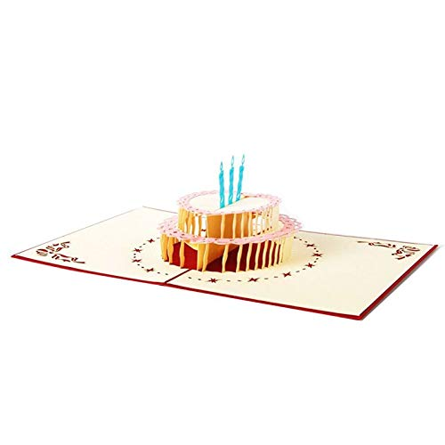 Professional 13 16cm 3d Pop Up Cake Greeting Card Birthday Happy Valentines Day Year, Cards Birthday Wishes - Spanish Birthday Card, Birthday Greetings, Handmade Birthday Cake
