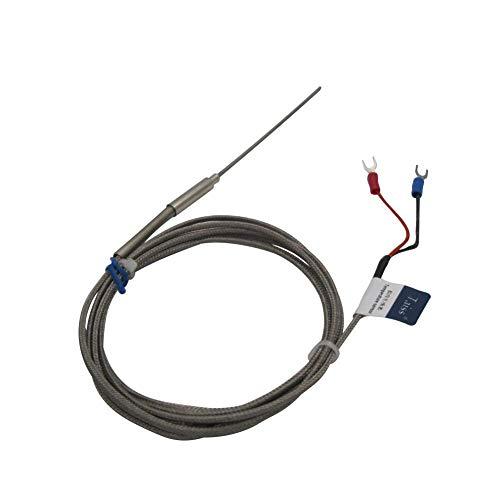KAIBINY K Tipo Thermistor Temperatura Sensor Sensor Rango Rango de 0 a 600 ° C Controlador de Temperatura, termopar de 100 mm / 4', la sonda Puede ser fácilmente diámetro doblado: 2 mm / 0.08' (2x100