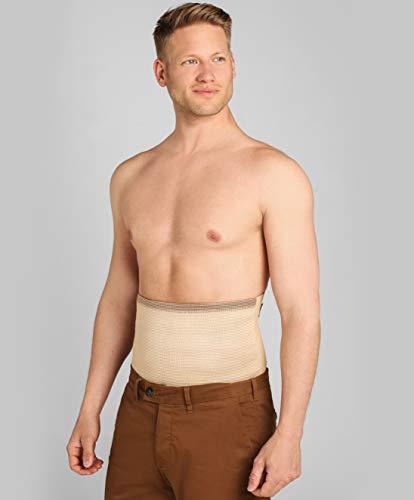 ®BeFit24 Nierenwärmer für Herren und Damen - Rückenwärmer - Wärmegürtel - Nierenschutz - Nierengurt Wärme [ Size 6 - Beige ]