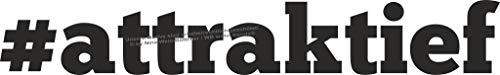 WB wohn trends Auto-Aufkleber, attraktief Tuning-Scene Tuner, weiß, 35cm breit, KFZ-Sticker