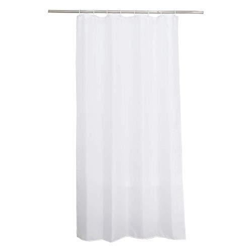 SENSEA - Textil-Duschvorhang - Happy - Weiß - B.120 x H.200 cm
