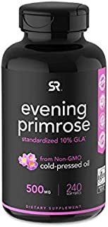 Evening Primrose Oil (500mg) 240 Mini-Liquid Softgels, Cold-Pressed with No fillers or Artificial Ingredients; Non-GMO & G...
