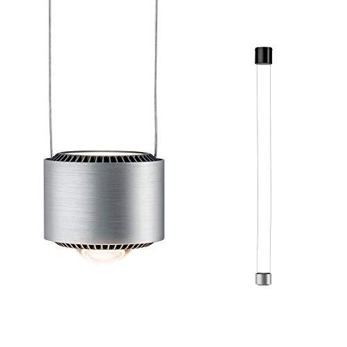 Paulmann 79719 LED Pendelleuchte Aldan incl. 1x8,5 / 1x4,5 Watt dimmbar Hängelampe Schwarz, Alu Deckenlampe Warmweiß 2700 K