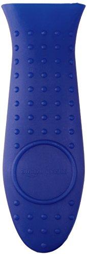 Amazon Basics Silicone Hot Skillet Handle Cover Holder, Blue