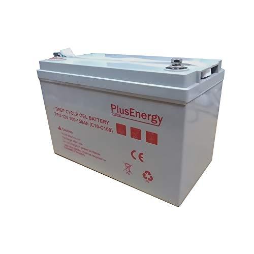 PlusEnergy Bateria AGM Gel 250AH 150AH 12V Ciclos Profundos (Gel 150AH)