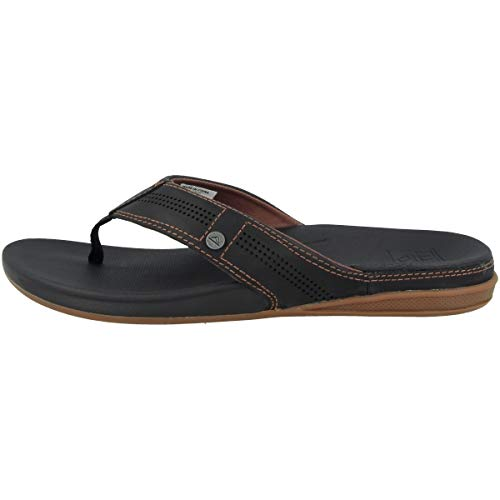 Reef Men's Sandals, Cushion Lux, Black/Brown, 10