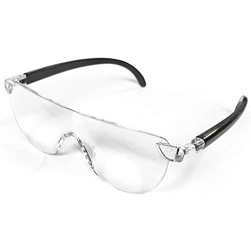 メガネ型拡大ルーペ 1.6倍 両手が使える /拡大鏡 メガネ型ルーペ