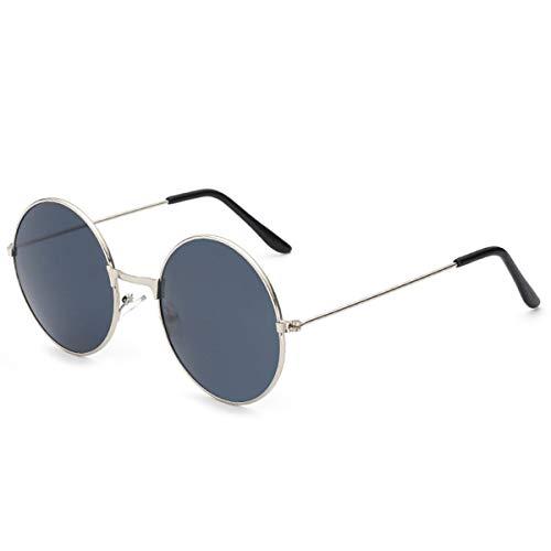 Hengtaichang Sunglasses Ladies Fashion Round Mirror Sunglasses Women Men Vintage UV400 Protection Sun Glasses Retro Eyeglasses Oculos De Sol 4066 x11 Silver