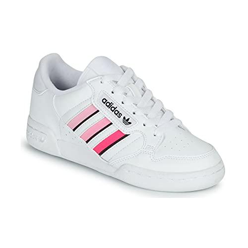 adidas Continental 80 Stripes J, Zapatillas Deportivas, FTWR White Core Black Light Pink, 38 EU