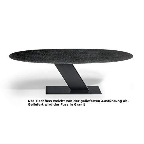 Studio 20 Las Vegas Gartentisch 220x110x75 cm Granittisch Granitplatte Steinfuss Tischplatte Pearl Black satiniert