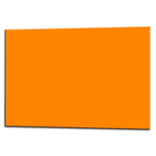 Glas Expert Küchenrückwand | 75 x 60 cm | Orange | EVOKERAM Glass ® | Deko Spritzschutz Rückwand für Küche, Herd, Fliesen, inkl. Befestigungsmaterial