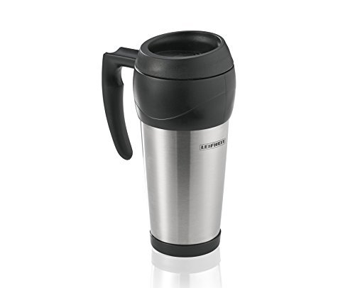 Leifheit 25770 Cup/Mug – Cups & Mugs (Single, Black, Stainless Steel, Stainless Steel)