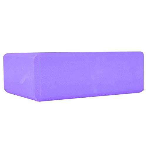 Jingyig Ladrillo de Espuma de Yoga, Bloque de Yoga, cojín de Yoga EVA Antideslizante, Herramienta de Fitness para Ejercicio, Estiramiento, Entrenamiento en casa(Purple)