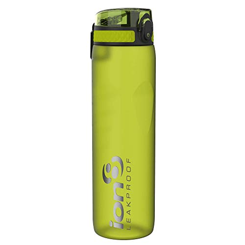 Ion8 Borraccia 1 Litro Senza Perdite, Senza BPA, Verde