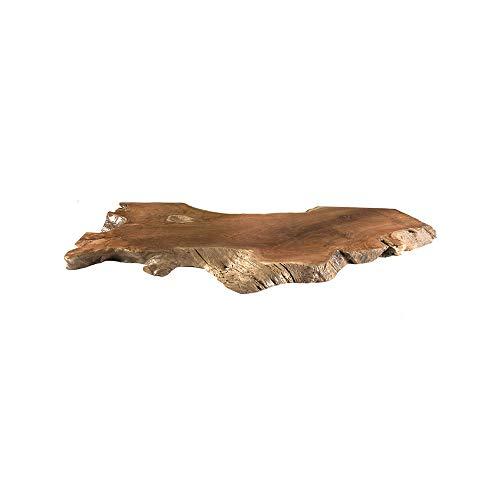 wohnfreuden Teak Holz Waschtischplatte Natur braun 125x50x5 cm ausgetrocknet und geschliffen Holz-Platte für für Waschbecken