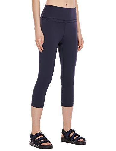 CRZ YOGA CRZ YOGA Damen Yoga Capri Leggings Sport Hose mit Hoher Taille-Nackte Empfindung -48cm Marine 19'' - R418 38