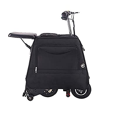 DXFK.AM Electric Suitcase Scooter Smart Trolley Case Can Sit Travel Carry Luggage for Travel Storage Case for School Airport Outdoor,Black