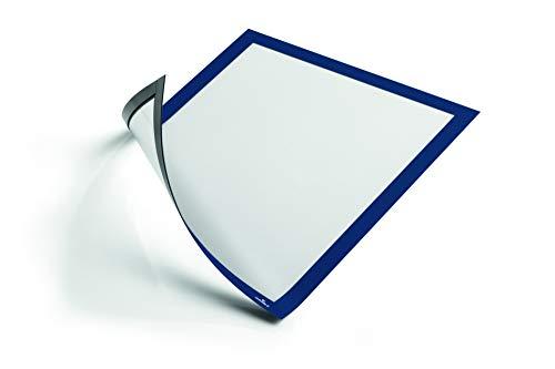 Durable 486907 Duraframe Cornice, Espositiva a Fissaggio Magnetico, Formato A4, Confezione da 5 Pezzi, Blu