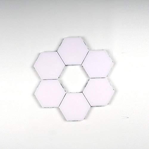 Spezial Stimmungsbeleuchtung Wabenlampe Berühren Hexagonale Quantenlampe Menschlichen Körper Induktion Wandlampe Wohnzimmer Schlafzimmer Atmosphäre Lampe Wandlampe-6 Tabletten