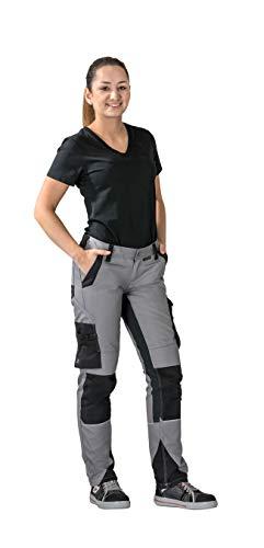 Planam Größe 34 Damen Norit Damen Bundhose Zink schwarz Modell 6416