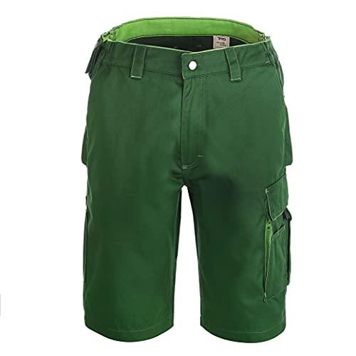 TMG® Finesse, Kurze Arbeitshose für Herren, Arbeitsshorts mit Werkzeugtasche, Grün 52