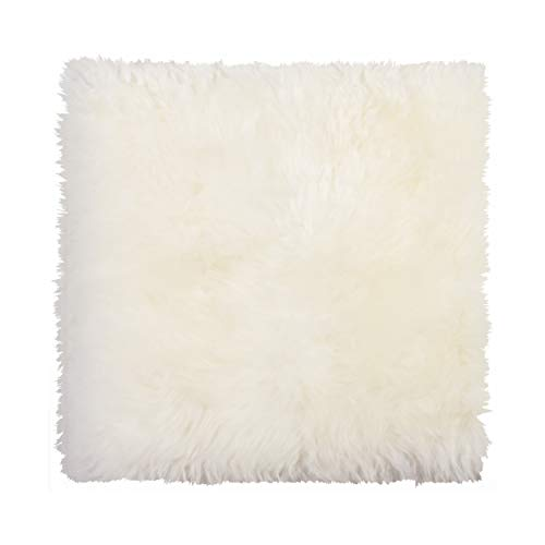 New Zealand Real Sheepskin Seat/Chair Pad, Super Soft Wool, Natural Leather, Non-Slip Backing, Natural