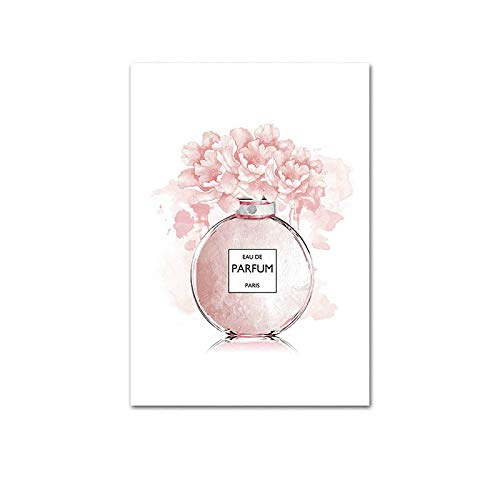 N / A Perfume Fashion Quotes Painting Makeup Art Poster Print Wall Art Picture Modern Girl Room Decoration 20x30CM NO frame