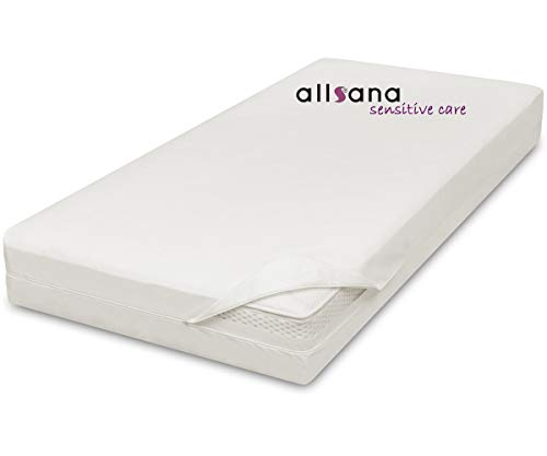 allsana Allergy Mattress Cover 200X200X24 cm Allergy Duvet Encasing Mite Protection for House Dust Allergy Sufferers