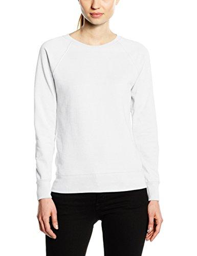 FRUIT OF THE LOOM Women's Raglan Lightweight Sweater, White, M UK