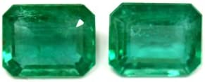 GemsNY Raleigh Mall Cheap mail order sales 6.02 cttw. Natural Cut Pair Matched Emerald
