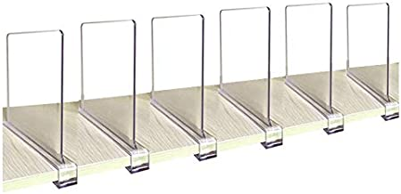 CY craft Acrylic Shelf Divider, Wood Shelf Dividers,Clear Closet Shelf Separators Clothing Organizer Perfect for Bedroom S...