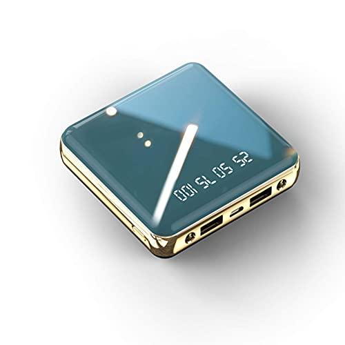 Wdszb Mini Power Bank Cargador portátil El más pequeño y liviano de Alta Capacidad con Pantalla LED Paquete de batería Externa de 2 Puertos Compatible Lleva 2 linternas con Android/iPhone/iPad