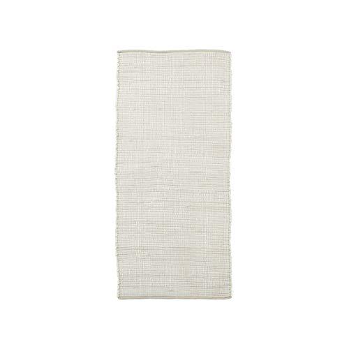 House Doctor Tapis Chindi, Blanc, Longueur 160 cm, Largeur 70 cm