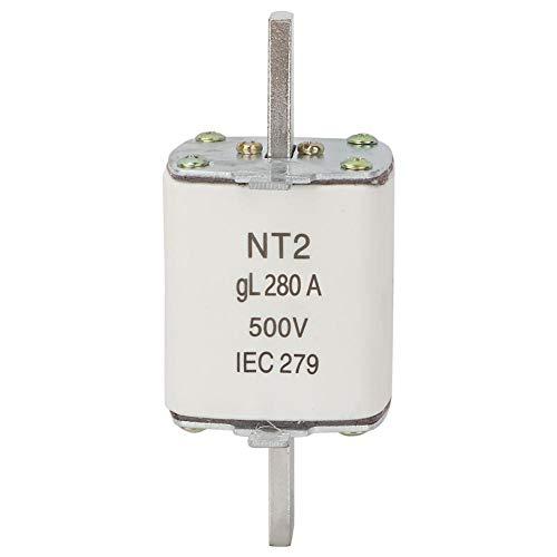 Sicherung 250-350A, Sicherung Blade Keramiksicherung NT2 / RT16-2 500V Kontaktkeramik Sicherungseinsatz für elektrische Geräte Sicherheitsschutz(280A)