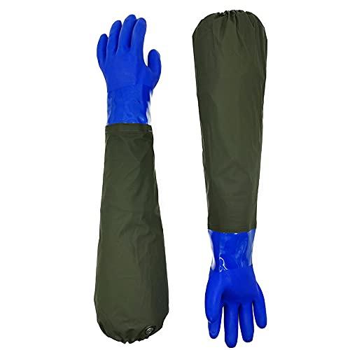 hamacy Teichhandschuhe Lang-wasserdichte Handschuhe-Fischerhandschuhe Sandstrahlen-Teichpflege Handschuhe-Arbeitshandschuhe Wasserdicht Beständig Säuren und Laugen