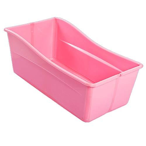 Vasca da Bagno Pieghevole, Vasca Portatile Pieghevole, Vasca da Bagno for Bambini, Grande Piatto Doccia for La Vasca da Bagno (Color : Pink)